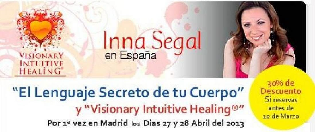 Inna Segal en Madrid 27-28 de Abril. Consulta los descuentos.
