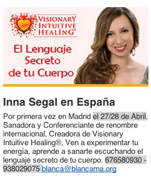 Enlaza Conciencia Inna Segal en Madrid